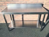 New Stainless Steel Tables