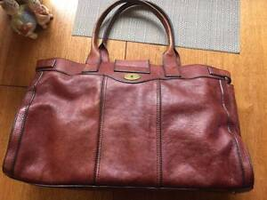 Fossil large genuine leather weekender overnight bag Hornsby Hornsby Area Preview