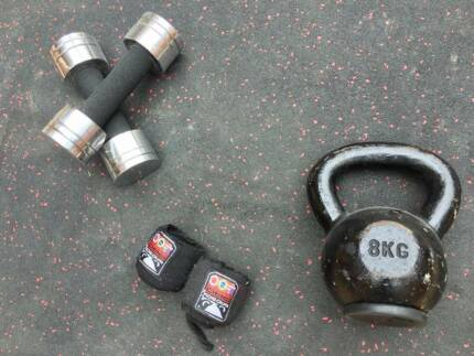 High impact Gym Matt and Weights