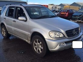 2003 Breaking MERCEDES ML 270 320 W163 automatic gearbox turbo diff door airbag cluster injector abs