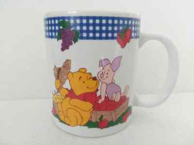 Disney Winnie The Pooh & Piglet Strawberries Apples Pears Cup Mug Ceramic Cup