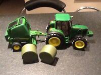 John Deere tractor and bailer