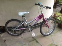 Girls Raleigh bicycle. Suit 6 to 8 year old