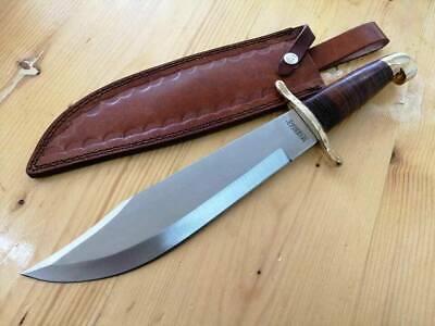 Coltello da caccia Bowie Stacked Leather 42cm MR555 Knife Messer Couteau Navaja