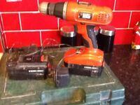 18v black and decker cordless drill £20
