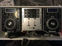numark NDX400 and numark m101usb mixer all leads included all working selling due to moving house