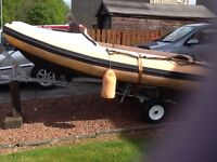 Dinghy 13 foot with trailer and 8hp Yamaha outboard