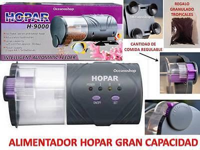 REGALO COMIDA 60 GR COMEDERO AUTOMATICO HOPAR alimentador peces Acuario Pecera