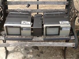 Two old portable tv for sale open to offers