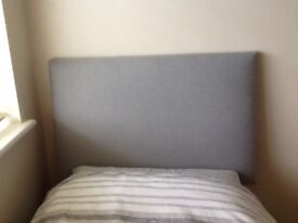 NEW Grey padded headboard for single bed