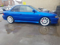 impreza sti 2 door type r dccd 1997 running project car