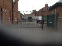Steel gates 6 m wide x 2 m high