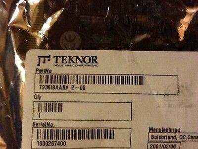 Teknor Industrial Computer T936ibaab  Sbc Single Board Computer