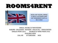 CHEAP SINGLE, DOUBLE AND TWIN ROOMS AVAILABLE NOW