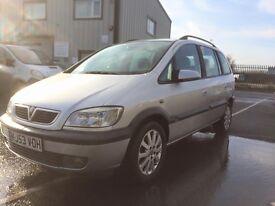 Vauxhall Zafira 53 Plate 7 Seater
