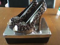 Size 7 Leopard Print Mules BNIB