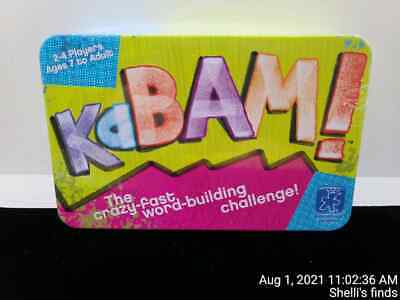 KaBAM The Crazy Fast Word Building Challenge Card Game 2-4 players. New Sealed