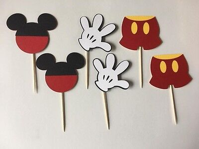 Mickey Mouse Cupcake toppers. Set of 24! Great for Birthday parties - Mickey Mouse Decorations For Birthday