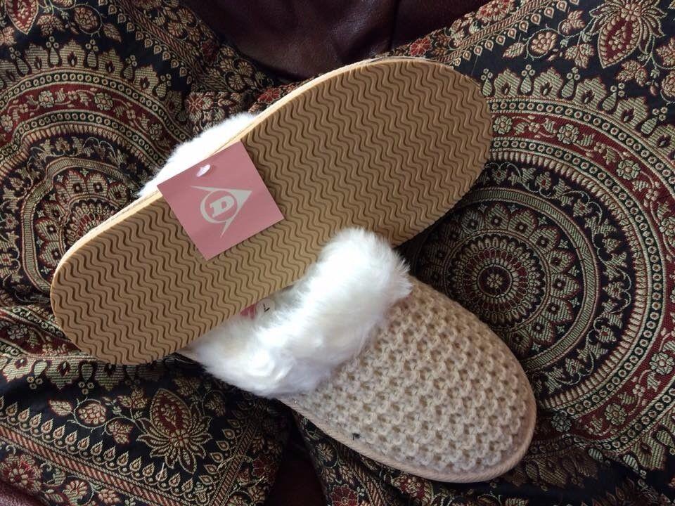Beige Ladies Dunlop Slippers -Brand New