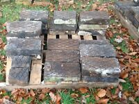Reclaimed vintage stable floor blocks possibly Victorian