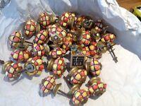 Decorative ceramic knobs
