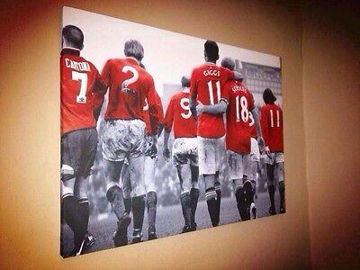 "Manchester United #MUFC Legends Canvas Print A1 (33.1""x23.4"") £32"