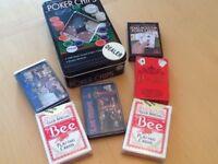 Texas Holdem Cards and automatic card shuffler