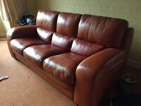 massive 3 seater italian leather sofa