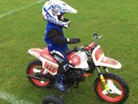 Yamaha pw50 with training wheels
