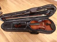 Quality beginner violin (size 4/4) for adults, was used by professional violinist for teaching