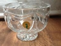 """Excellent condition Waterford 5"""" Variety Footed Bowl"""