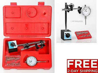 New Dial Indicator Magnetic Base Point Precision Inspection Set 2-day Shipping