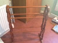 Free standing wooden towel rail