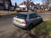 ++++AUDI A3 1.6 PETROL 2003 03 REG, 5 DOOR HATCHBACK TAX'D & MOT'D BARGAIN PRICE £495++++