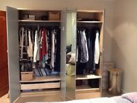 2 ikea double wardrobes