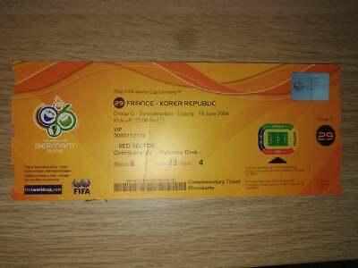 Ticket World Cup 2006 VIP : France - Korea Republic Match 29