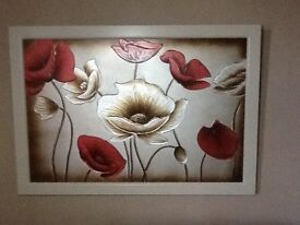 Large Framed Canvas Picture/Wall Art