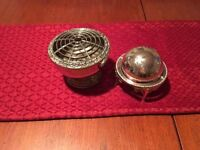 2 Silver Plated Ornaments