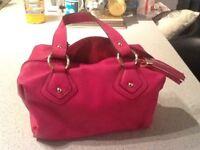 M&S pink handbag.