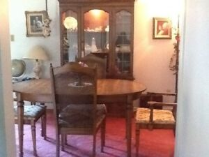 Dining room suite with six chairsNEW PRICE !!  $175