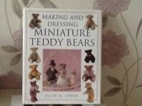 Various books on miniature toy making. Dolls and teddies