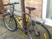 £35 26 wheel 22 frame 15 gears good condition can deliver for petrol. Many extras free