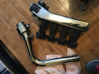 SEAT LEON CUPRA R / AUDI TT S3 225 1.8T 20v POLISHED INLET MANIFOLD + POLISHED DEBAFFLED CHARGE PIPE