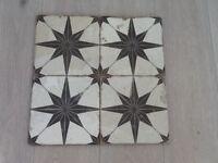 Granada black and white floor tiles