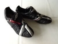 UMBRO football boots size 11 and shin pads