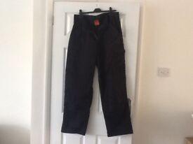 Black mens work trousers