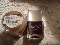 1 GHOST nail LAQUER & 1 NAILSINC varnish