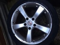 "4x 17"" No Name Alloy Wheels. Used cond. EX E46 BMW"
