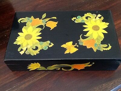 Vintage Painted Lacquered Box, used for sale  Shipping to South Africa