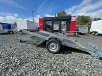 BRAND NEW 10 X 5 SMART CAR TRANSPORTER/ QUAD/ RIDE ON MOWER TRAILER SINGLE AXLE 750KG